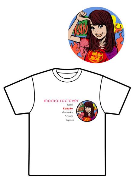 夏菜子Tシャツラフイラスト